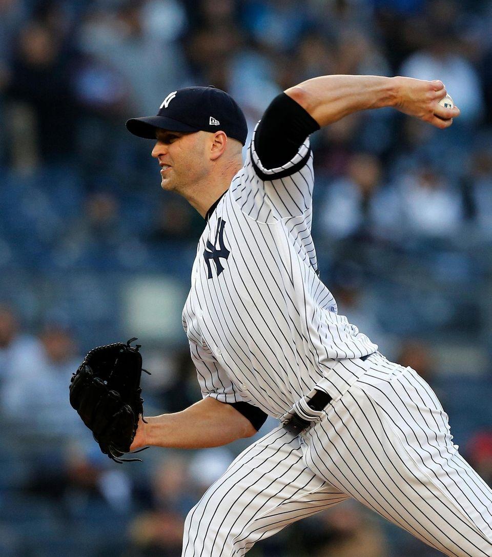 J.A. Happ #34 of the New York Yankees