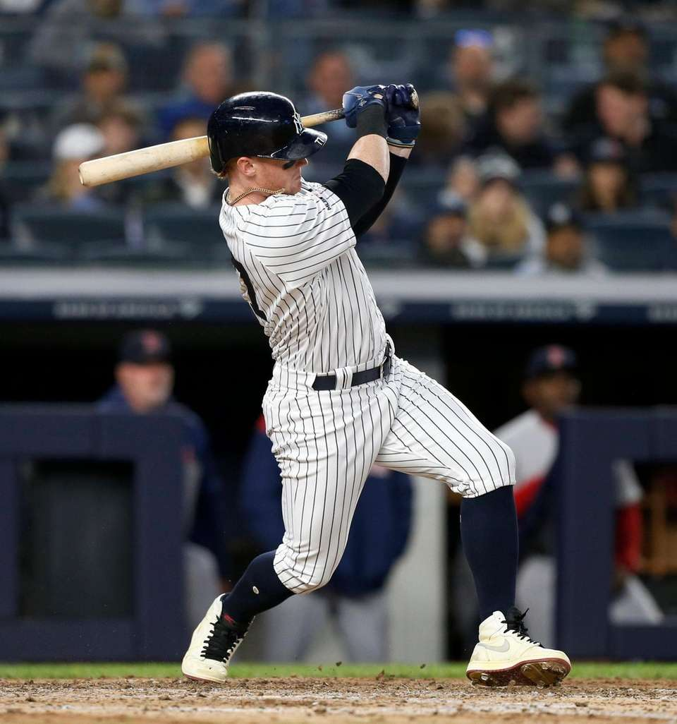 Clint Frazier #77 of the New York Yankees