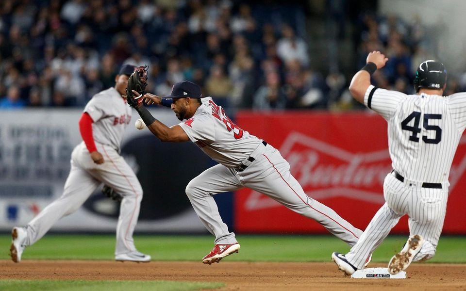 Eduardo Nunez #36 of the Boston Red Sox