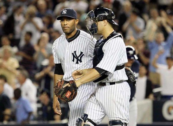 Mariano Rivera #42 of the New York Yankees
