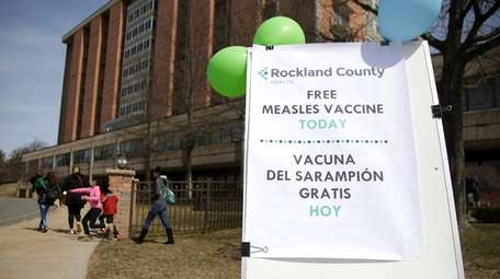 Measles outbreaks in Rockland County and Brooklyn have