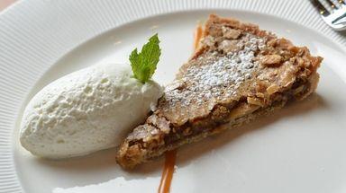 An almond ginger tart at Sandbar in Cold