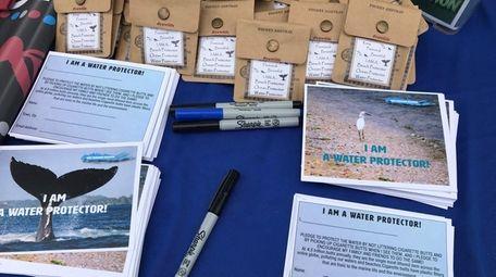 "Kesley Leonard's ocean advocacy includes ""pocket ashtrays,"" seen"