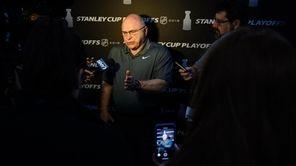 On Thursday, Islandershead coach Barry Trotz talked about