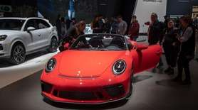 Front view of Porsche 911 Speedster. New York