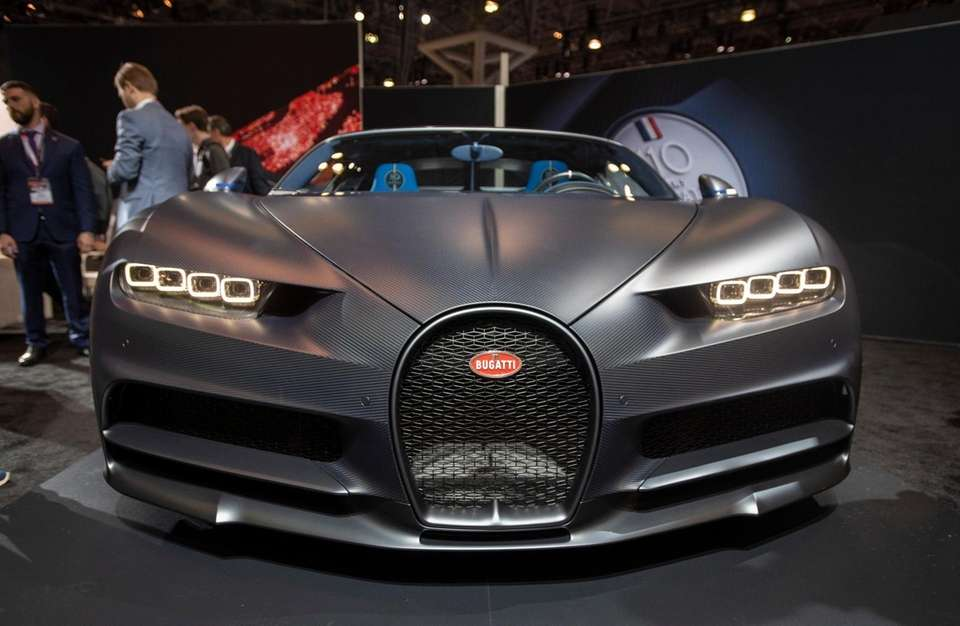 Bugatti Chiron Sport on exhibit at the New