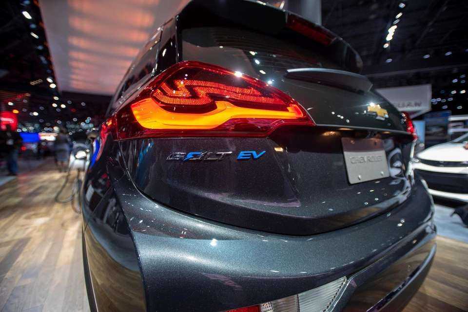 The Chevy Bolt EV as seen from the