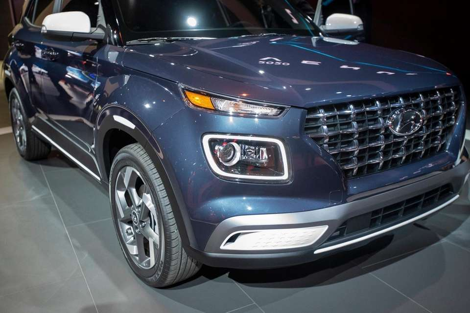 Hyundai Venue on display at the New York