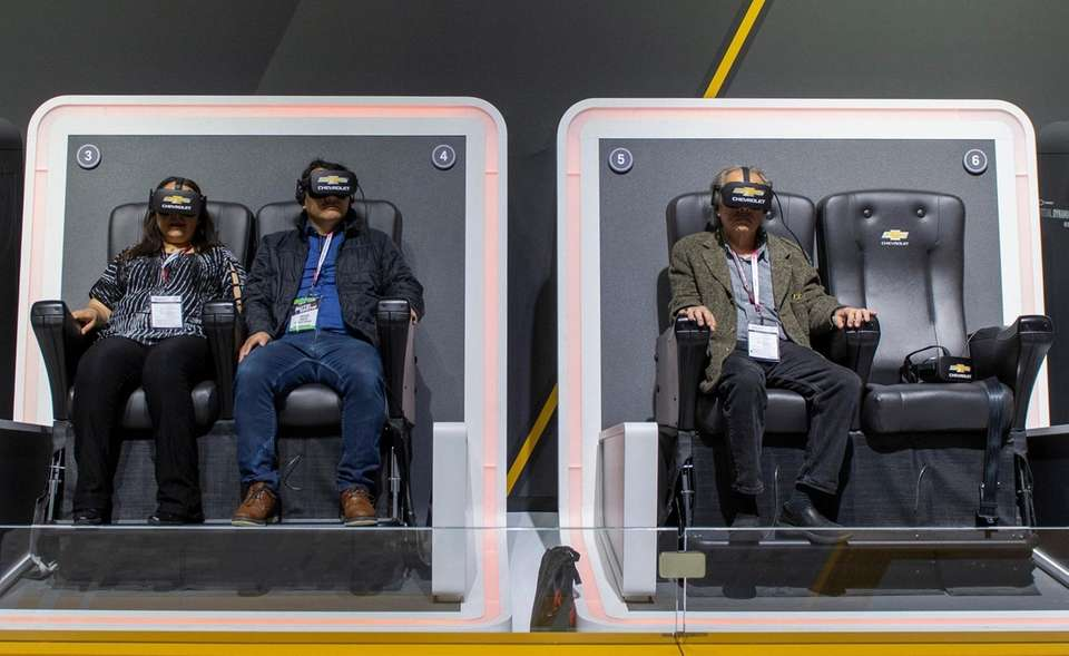 Chevrolet had VR set up in their Virtual