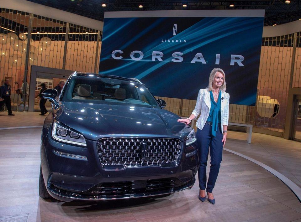 Lincoln Motor Company President Joy Falotico showcases the