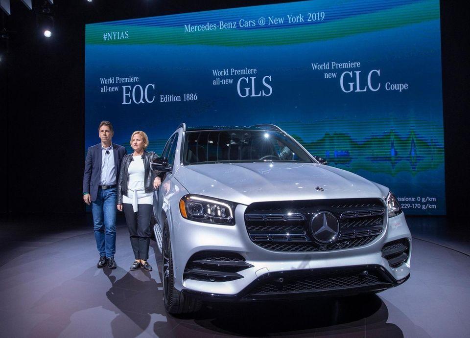 Dietmar Exlar and Briita Seeger of Mercedes introduce