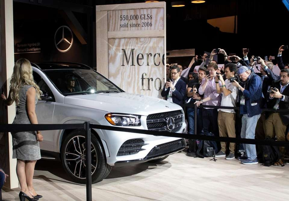 The Mercedes GLS debuts at the New York