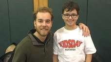 Kidsday reporter Nick Pellicano with physical education teacher