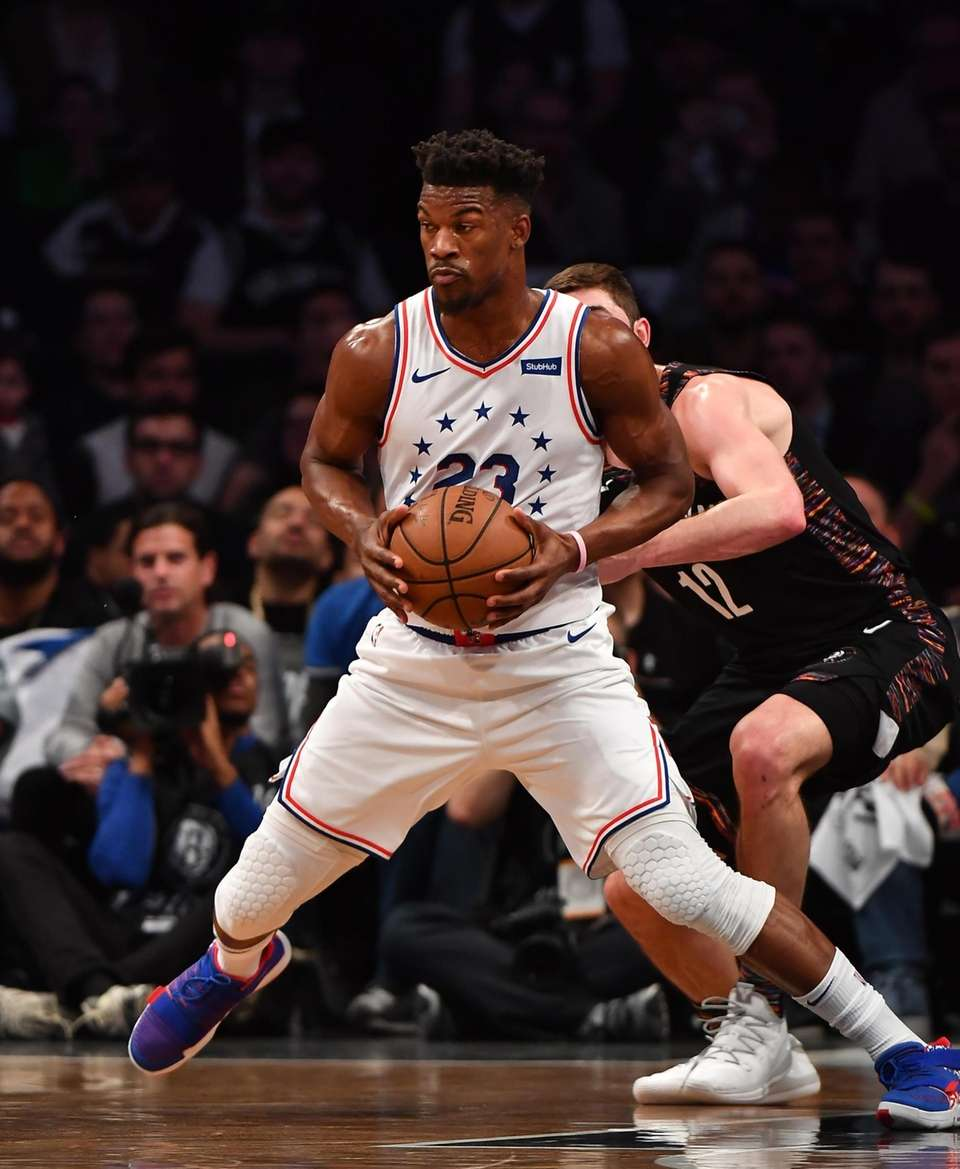 76ers guard Jimmy Butler (23) in the first