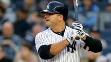 Mike Ford of the Yankees bats during the