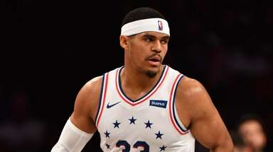 76ers forward Tobias Harris in the first quarter