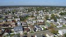An aerial view of Arctic Street and the