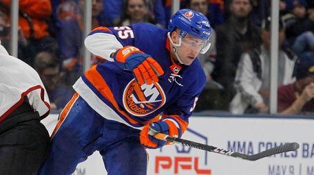 Islanders defenseman Johnny Boychuk skates against the Coyotes