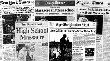 Front pages from April 21, 1999.