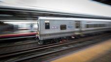 An eastbound Long Island Rail Road train on
