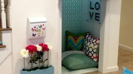 The secret nook inside the playroom.