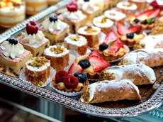 Italian-style pastries (as well as panini, pizza, salad