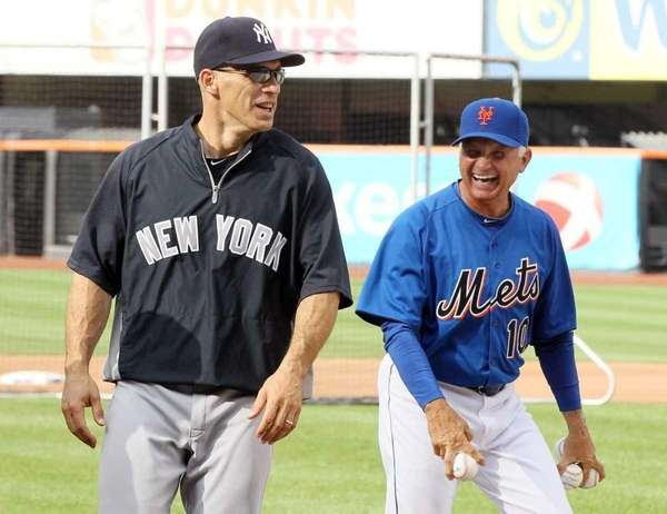 Mets manager Terry Collins has a laugh with