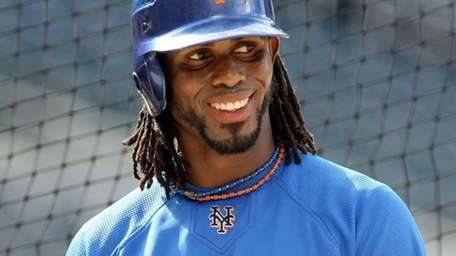Jose Reyes of the Mets during batting practice