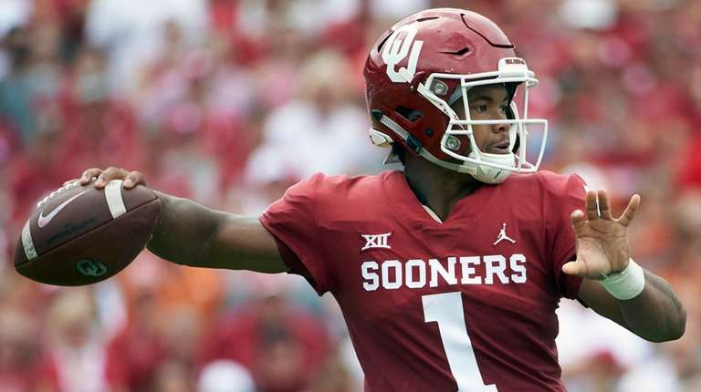 Oklahoma quarterback Kyler Murray  throws a pass