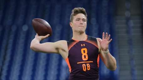 Missouri quarterback Drew Lock throws at the NFL