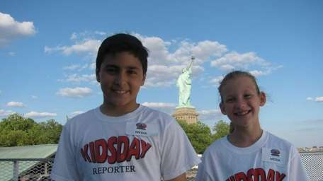 Kidsday reporters Marco Coluccio and Ilana Sherman, both