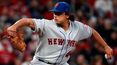 Mets starting pitcher Jason Vargas allowed a run,