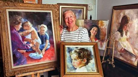 Liesel Boose, of Freeport, a renowned children's portrait