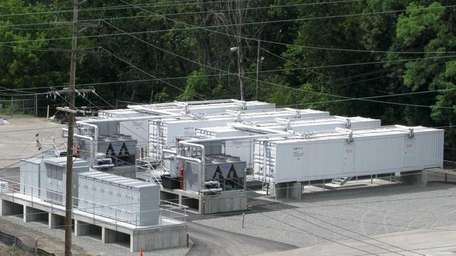 A 20-megawatt battery currently operating in Johnson City,