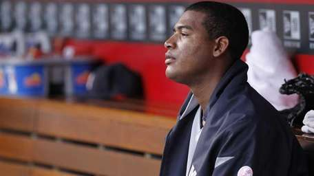 Ivan Nova of the New York Yankees looks