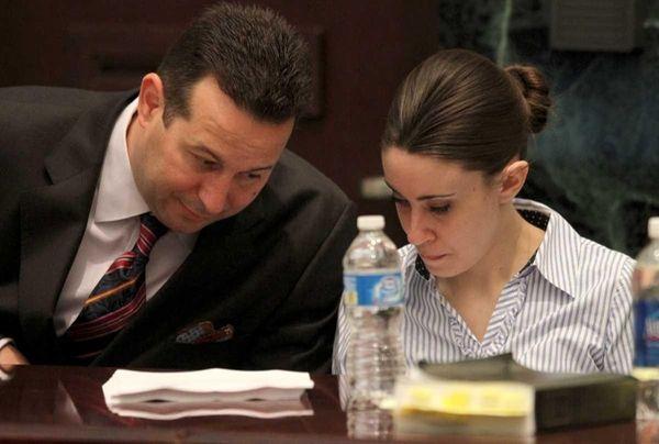 Defense attorney Jose Baez with his client Casey
