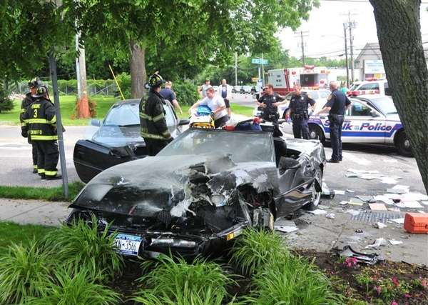 Investigators probe a crash involving a police cruiser,