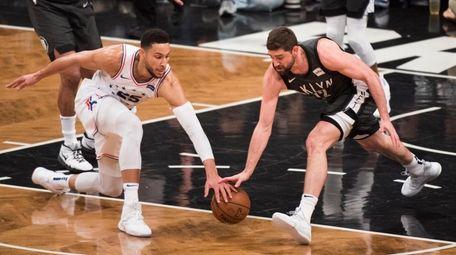 76ers guard Ben Simmons and Nets forward Joe