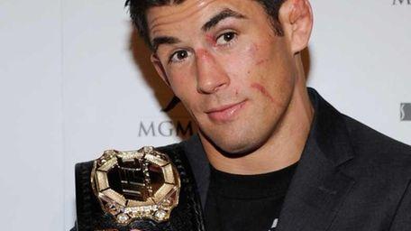 UFC bantamweight champion Dominick Cruz arrives at a