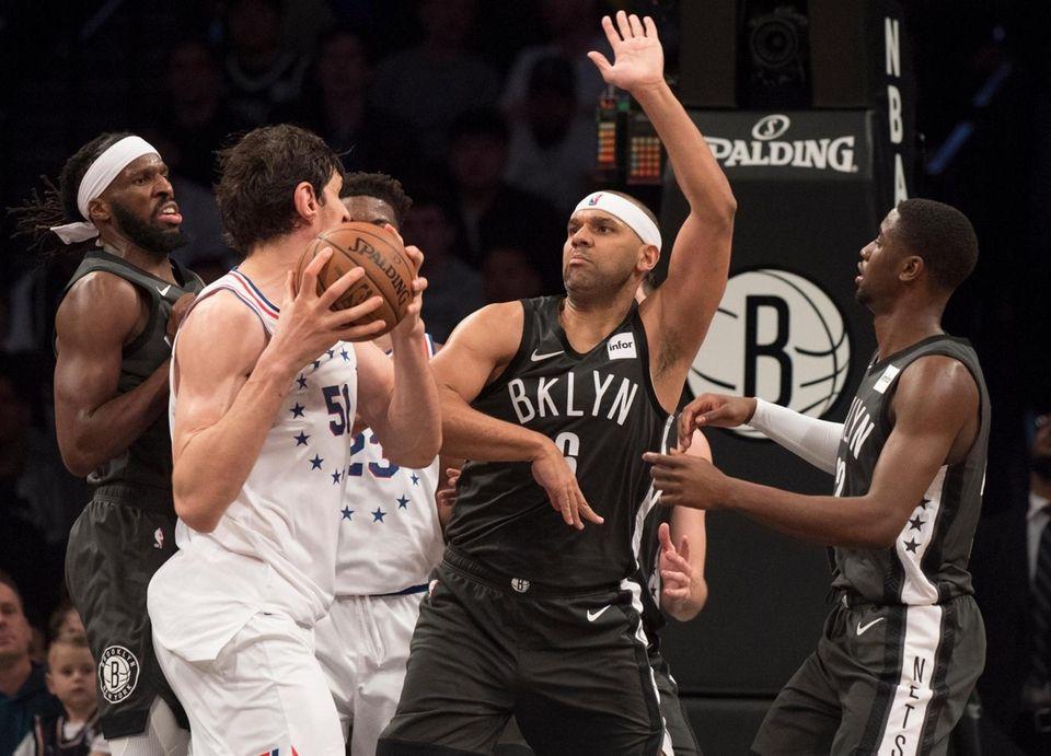 Nets forward DeMarre Carroll (9) along with Nets