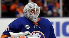 Islanders goaltender Robin Lehner during the second period