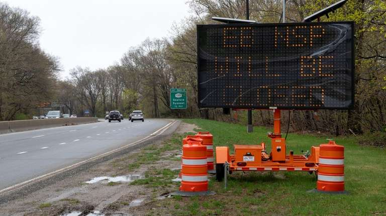 Northern State Parkway partially closing for construction