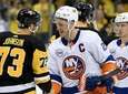 Anders Lee #27 of the Islanders shakes hands