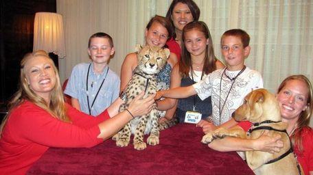 Kidsday reporters, from left, Kieran Douglas, Angela Labenberg,