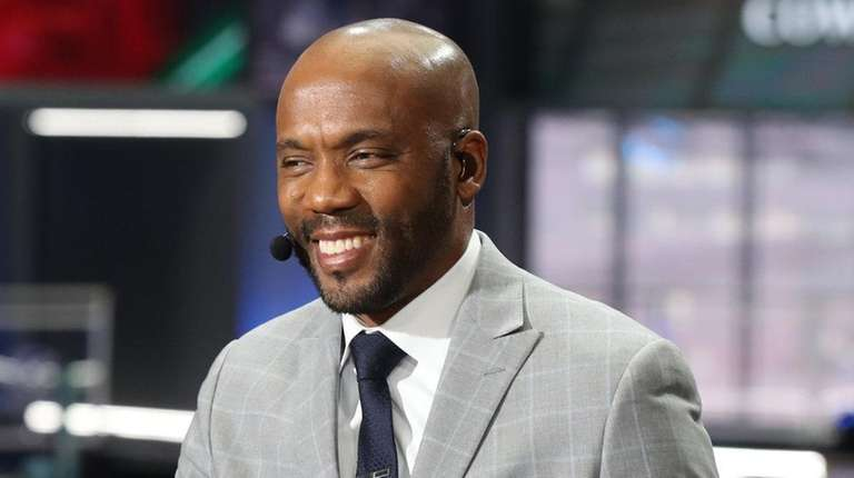 Louis Riddick on the ESPN set for the