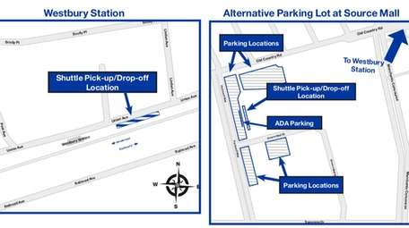 A map of the parking changes at the