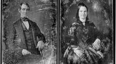 Daguerreotypes of Abraham Lincoln and wife Mary Todd