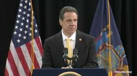 Gov. Andrew M. Cuomo, at a news conference at LIU Post