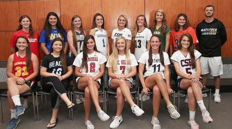 Newsday All-Long Island Girl's Lacrosse Team Top Row