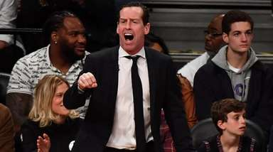 Nets head coach Kenny Atkinson in the third